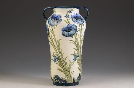 Moorcroft Poppy On White Florianware Vase C1905